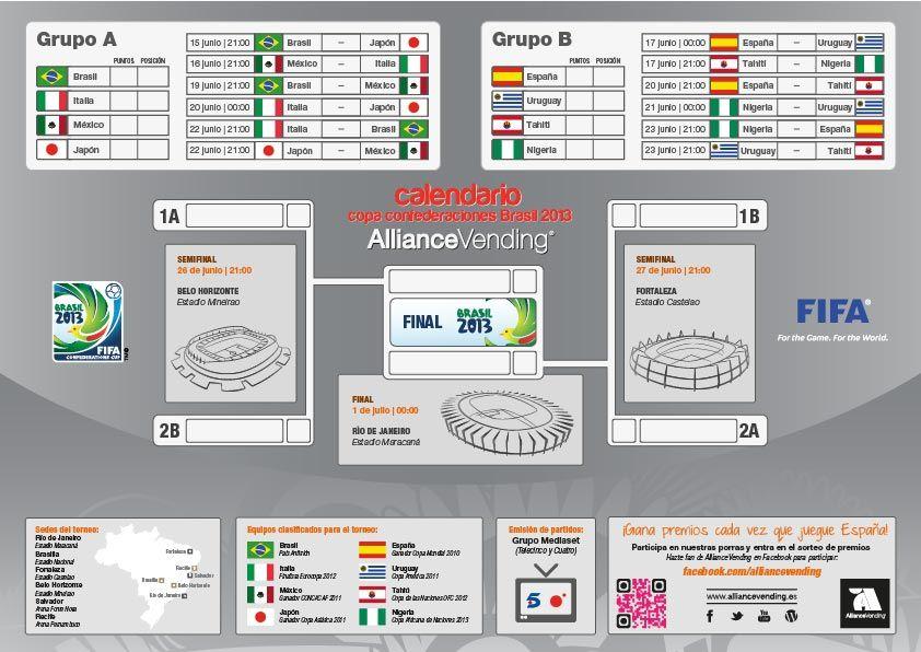 Calendario descargable gratis copa confederaciones brasil 2013