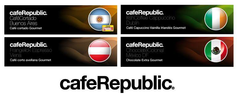 Algunas de las selecciones CafeRepublic de Alliance Vending