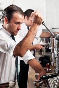 Ejemplo de barista profesional