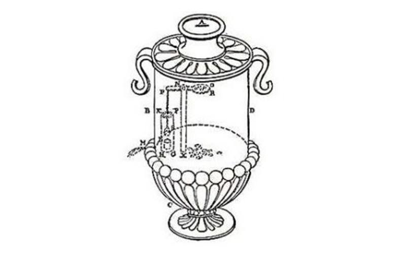 El artefacto considerado la primera máquina de vending de la historia.