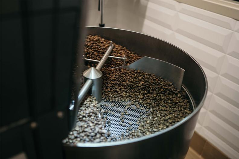 Proceso de tueste del café