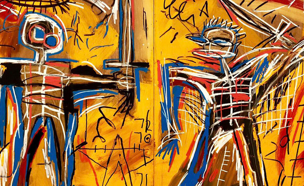 Offensive Orange, 1982, Jean-Michel Basquiat